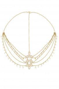 Golden Crystals Multi Strand Halo #hairdramacompany #perniaspopupshop #accesories #new #shopnow #happyshopping