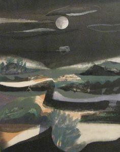 """Landscape Towards Night, Wilton Castle"" by Charles Shearer (gouache and ink) Forest Art, Dark Forest, Nocturne, Wilton Castle, Royal College Of Art, Seascape Paintings, Abstract Landscape, Art Techniques, Gouache"
