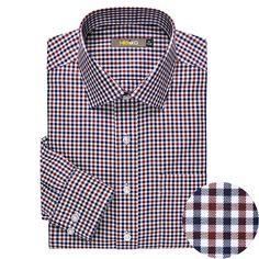 camisa del enrejado para hombres del negocio