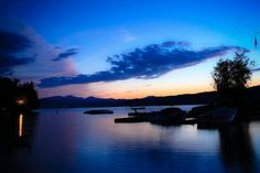 The colors of summer nights. Vermont at its best.