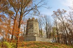 One local legend claims that the tower was built during the Civil War and that a woman plunged to her death from the top of the tower after hearing the news of her husband's death.