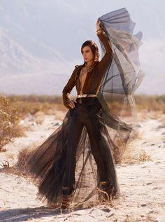 Jessica Miller Poses for Thomas Whiteside in Elle US