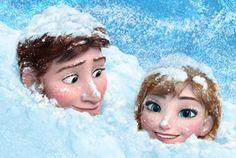 """The """"look."""" Always when the girl's not looking! #Frozen"""