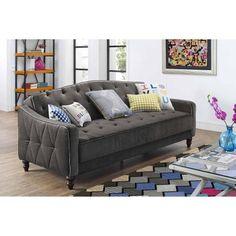$299 by Novogratz Vintage Tufted Sofa Sleeper II, Multiple Colors - Walmart.com