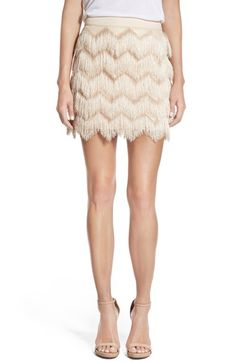 Ella Moss 'Stardust' Zigzag Fringe Skirt available at #Nordstrom