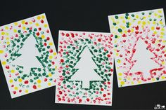 20 Simple Christmas Cards Kids Can Make - The Joy of Sharing Easy to make Christmas card ideas for kids. Quick and simple homemade cards for toddlers, preschoolers and kindergarten kids. Christmas Cards Handmade Kids, Simple Christmas Cards, Christmas Card Crafts, Homemade Christmas Cards, Christmas Cards To Make, Xmas Cards, Christmas Fun, Homemade Cards, Toddler Christmas