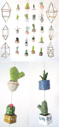 kim baise - quirky papier mache mobiles!: