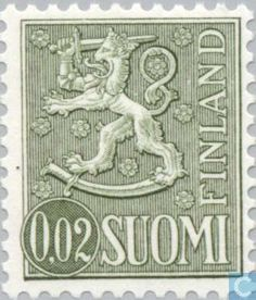 Stamps - Finland - Finnish lion. 1968 Old Ads, Postage Stamps, Finland, Lion, Nostalgia, Childhood, Posters, Memories, Tattoo