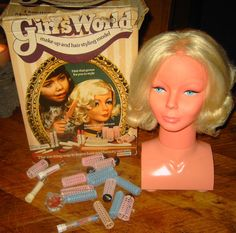 1970's Girl's World Styling Head. I loved her, she was the best Christmas present i ever got.