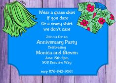 Anniversary Party invitations NEW selections Summer 2020 Anniversary Party Invitations, Retirement Party Invitations, Retirement Parties, Anniversary Parties, 2020 Design, Luau, Rsvp, Custom Design, Just For You