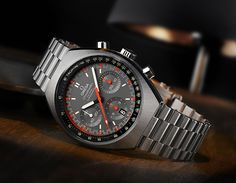 """The new Omega Speedmaster Mark II is based on a model released in 1969, the same year that astronauts wore Omega Speedmaster Professional watches on the surface of the moon, forever earning that model the nickname """"Moonwatch."""""""