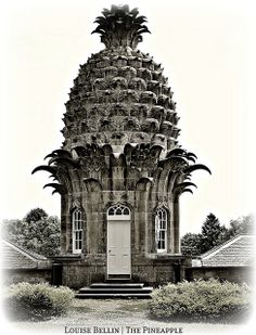 The pineapple folly at Dunmore Park, north west of Airth. What if every property were allowed one folly rubber stamp approved by the planning commission? This might make the neighborhood walk more enjoyable. Beautiful Buildings, Beautiful Places, Garden Buildings, Garden Structures, Unusual Homes, Architectural Elements, Architecture Details, Ancient Architecture, Pineapple