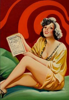 EARLE K. BERGEY - art for Romance Preferred by Nat Barker - April 1935 Bedtime Stories