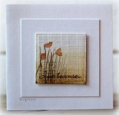 Gorgeous card by Birgit Edbloom. The images are from the Growing Wild stamp set from TechniqueTuesday.com.