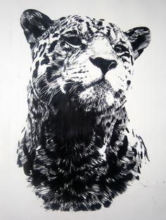 "Artist: Mehmet Dere; Charcoal, 2012, Drawing ""Legend"""
