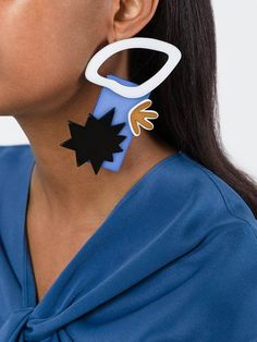Pretty sure I could make something like this Maison Margiela block shape earring with some shrinky-dinks.