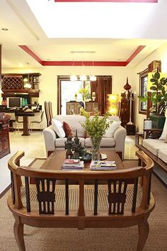 A Collection of Art Pieces and Flea Market Finds in a Suburban Home Real Living Philippines Living Room Chairs, Living Room Furniture, Living Rooms, Filipino House, Antique Kitchen Decor, Philippine Houses, Spanish Style Homes, Asian Decor, Interior Decorating