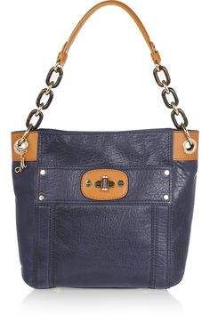 Allie Leather Shoulder Bag by Milly