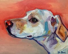 Pet Portraits - Yellow Lab Mix Oil painting on panel commissions:  www.juliepfirsch.com