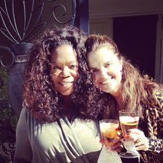 An iced tea toast to my birthday with @mariashriver. #birthdaylunch