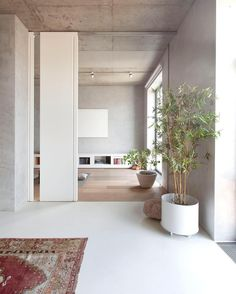 Using the principle of the traditional Japanese house, M17 designed an open layout for a Moscow apartment that uses less partitions and walls for zoning to make the interior feel more open and spacious without compromising functionality. : courtesy of A.Volkov. #architecture #interiors #design #interiordesign #apartment #moscow... - Interior Design Ideas, Interior Decor and Designs, Home Design Inspiration, Room Design Ideas, Interior Decorating, Furniture And Accessories
