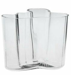 Iittala Aalto 4-3/4-Inch Clear Glass Vase