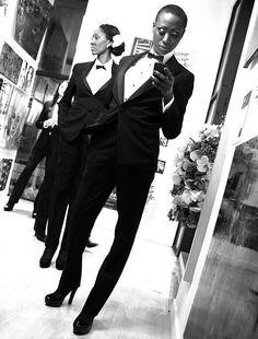 "1st MNM's event. New soon.  Tux in da city...  My James Bond's girls ("";)"