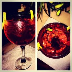 #gintonic made by #ginmare #fevertree mediterranian #cerezas #cardamomo #lemon