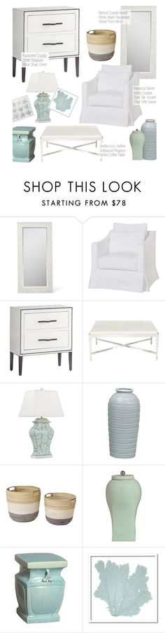 """""""Coastal Decor"""" by kathykuohome ❤ liked on Polyvore featuring interior, interiors, interior design, home, home decor, interior decorating, Karen Robertson Collection, homedecor and Coastal"""