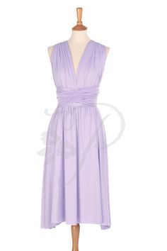 cd4b027fda14 SAMPLE SALE, Ready to Ship, Short Straight Hem Bridesmaid Dress Infinity  Dress Lilac Knee Length Convertible Dress Multiway Wrap Dress