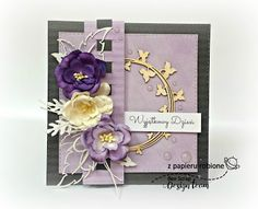 kartka urodzinowa dla pana Cute Cards, Frame, Flowers, Diy, Crafts, Beautiful, Scrapbooking, Decor, Fabric Flowers