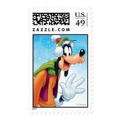 Blue Holiday Goofy Postage