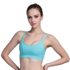 b44f475b78 Women Strappy Athleisure Yoga Sports Bra Casual Wirefree Seamless AIYIHAN  at… T Shirts For Women