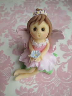 Fairy Dolls with Wings Cupcake Toppers 6 Dolls by mimicafeunion