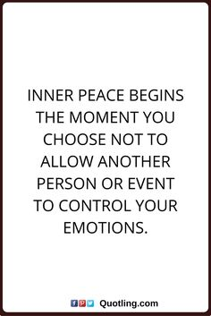 peace of mind quotes Inner peace begins the moment you choose not to allow another person or event to control your emotions. Peace Of Mind Quotes, Life Quotes, Motivational Quotes, Inspirational Quotes, Mindfulness Quotes, Spiritual Inspiration, Good Thoughts, Inner Peace, Healthy Relationships