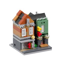 "Old design created for 2017 LEGO ""minimodular"" contest . Lego Boxes, Shop Lego, Micro Lego, Cool Lego Creations, Lego Design, Lego Architecture, Lego Creator, Lego Projects, Custom Lego"