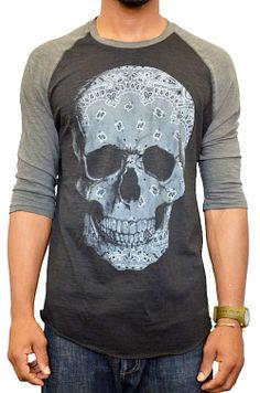 Five Crown Bandana Skull Baseball T-Shirt $29.98
