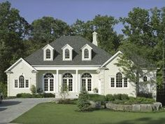 Dream House Plans: Find the best new house plans of all styles - Southern Home Plan, Colonial Open House Floor Plans with porches. Southern House Plans, New House Plans, Southern Homes, House Floor Plans, Southern Mansions, Country Homes, Home Improvement Grants, Landscape Arquitecture, Architectural Columns