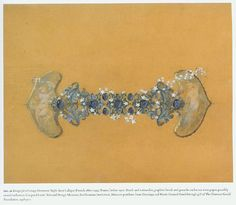 Rene Lalique's drawings are so amazing. The're perfect for a tattoo. This is a glass bracelet design.