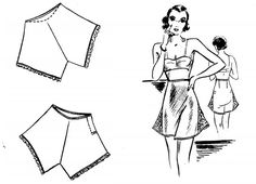 1930's tutorial for making underwear https://amybarickman.com/wordpress/wp-content/uploads/2011/07/Underthingsareskimpy.pdf