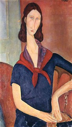 Amedeo Modigliani. Jeanne Hebuterne (con pañuelo), 1919. Óleo sobre lienzo. Colección privada. WikiPaintings.org - the encyclopedia of painting