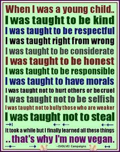 Yes! #ethics #morals #therightthing #vegan #govegan #veganism