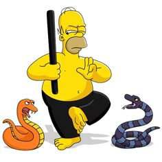 Whacking Day in Springfield. The Simpsons Show, Simpsons Cartoon, Cartoon Tv, Cartoon Shows, Cartoon Characters, Tim Burton Animation, Simpsons Episodes, Simpson Wallpaper Iphone, Harry Potter