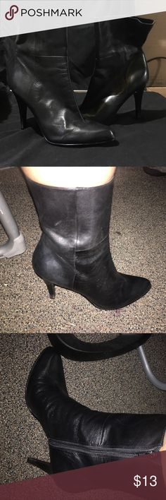 Nine West ankle booties Nine West above the ankle booties all black leather. Minimum wearbto bottoms. Nine West Shoes Ankle Boots & Booties