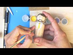 How to Paint Your Clothespin Dolls Hair and Face - YouTube