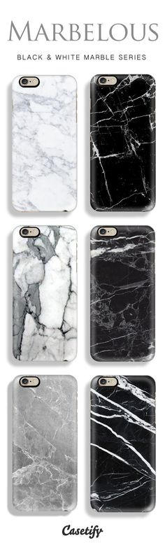 Top 6 marble iPhone 6 protective phone cases | Click through to see more black and white marble iphone phone case ideas >>> http://www.casetify.com/marble-iphone-case | @casetify #IphoneCases