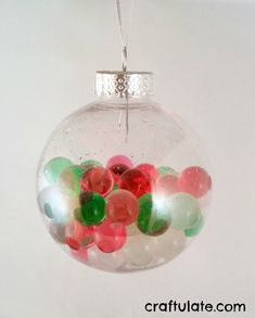 Water Bead Ornaments - gorgeous and easy for the littles!