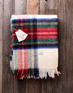 August Wilson Wool Blanket. Made from top quality soft wool, warm and cosy blanket is ideal for placing over bed or sofa linen.
