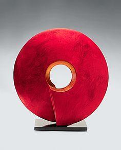 Crimson Coil Sculpture: Cheryl Williams: Ceramic Sculpture