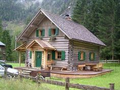 Find images and videos about log cabin on We Heart It - the app to get lost in what you love. Color Splash, Stone Cabin, Log Cabin Homes, Log Cabins, Cabins And Cottages, Cozy Cabin, Cabins In The Woods, Fairy Houses, Logs